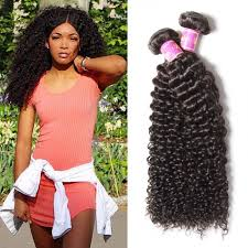unice 3pcs pack indian jerry curly human hair extensions unice