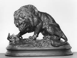 barye lion sculpture file antoine louis barye lion and serpent no 2 walters 27157