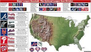 Nba Divisions Map Baseball2008mlb Divisions Billsportsmaps Com