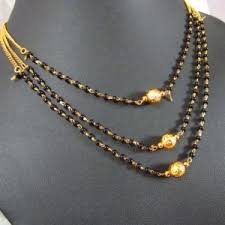 pattern gold necklace images Mangalsutras necklaces new janvi pattern gold plated 3 line jpg