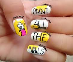 Meme Nail Art - paint all the nails i ve done the meme nail art which was