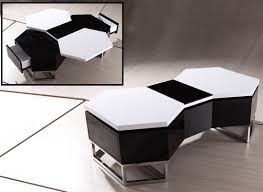 coffee table awesome black and white coffee table design ideas