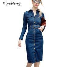 online get cheap knee length vintage denim dress aliexpress com