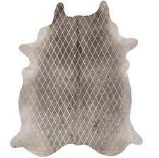 Metallic Cowhide Pillow Arlequin Metallic Cowhide Rug Grey Base By Art Hide