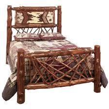Rustic King Bedroom Furniture Sets Bedroom Untreated Logs Rustic Cedar Log Bedroom Set Log Cabin