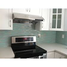 Best Kitchen Backsplash Images On Pinterest Kitchen - Green glass backsplash tile