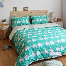 lelva cute elephant cartoon bedding set kids bedding for girls