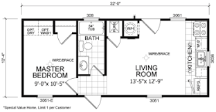 1 bedroom home floor plans single wide mobile homes factory expo home centers