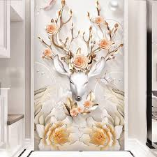 online get cheap money entertainment aliexpress com alibaba group europe style money elk rose photo wallpaper hd wall mural for living room hallway luxury wall
