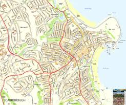 Map Of Yorkshire England by Scarborough Offline Street Map Including Scarborough Castle