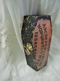 Wooden Halloween Crafts by Ouija Board Coffin Trinket Box Decor By Prettiesforyoushop On Etsy