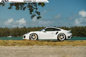 porsche 911 front white porsche 911 turbo s adv05 m v2 cs series wheels 21x9 5