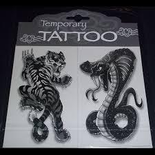 tiger and cobra 2 pack temporary tattoos
