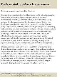 top 8 defence lawyer resume samples