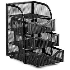 Revolving Desk Organizer by Amazon Com Halter Steel Mesh 2 Piece Desk Organizer Set Oval