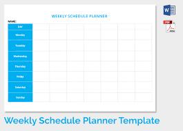 weekly timetable weekly schedule planner template free download
