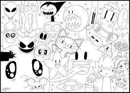 doodle art coloring pages shimosoku biz
