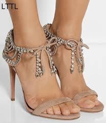 Rhinestone Sandal Heels Popular Rhinestones Sandal Heel Buy Cheap Rhinestones Sandal Heel