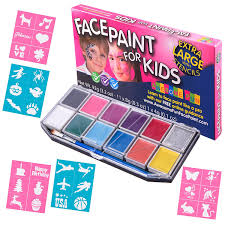 face paint kit with 30 stencils xx large face painting set for