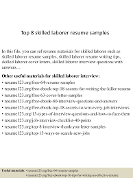 labourer resume template top8skilledlaborerresumesamples 150601105643 lva1 app6892 thumbnail 4 jpg cb 1433156249