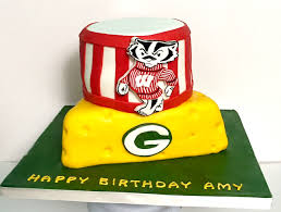 wisconsin badgers and greenbay packers football birthday