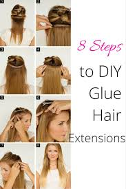 glue in extensions 8 steps to diy glue hair extensions the wardrobe stylist