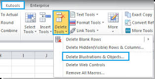 how to delete all charts in excel workbooks