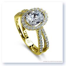 yellow gold oval engagement rings silverstein imagines 18k yellow gold oval center split shank