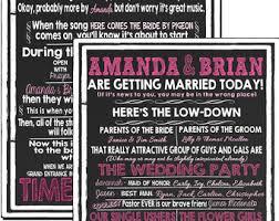 Funny Wedding Programs Modern Twist On Wedding Programs Enjoyable Funny Wedding