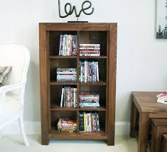 open dvd cd storage cabinet in walnut