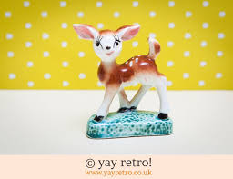 1950s china deer ornament vintage shop retro china glassware