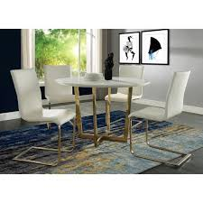 White Marble Dining Tables Maxim White Marble Dining Table Free Shipping Today Overstock