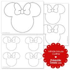 printable minnie mouse outline style pinterest minnie mouse