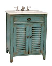 26 inch bathroom vanity cottage beach style distressed blue color