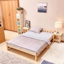Wooden Tatami Bed Plate Minimalist Modern Plate Bed Bedroom - Japanese style bedroom furniture for sale