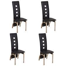 leather dining room chair leather dining chairs ebay