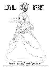 apple white thronecoming coloring page ever after high