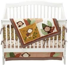 amazon com carter u0027s monkey bars 4 piece crib bedding set