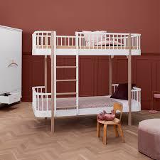 Luxury Bunk Beds Childrens Luxury Bunk Bed In White Oak Bunk Beds Cuckooland