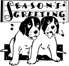 retro christmas puppies image the graphics fairy