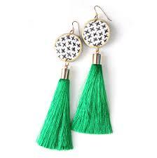Www Handmade Au - cross ink tassel earrings gold choose tassel colour unique