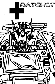 tfa ratchet coloring page by taiya001 on deviantart