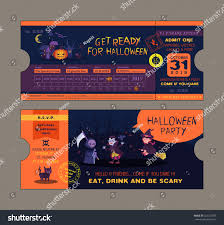 halloween web template halloween party ticket card vector template stock vector 322237076