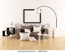 Living Room With Sofa Furniture Interior Living Room Sofa Table Stock Vector 515668168