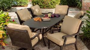 7 Pc Patio Dining Set - villa 7 piece cushioned patio dining set video gallery