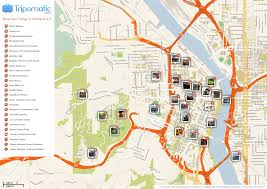 Portland Bus Map by Maps Update 21051488 Portland Tourist Attractions Map