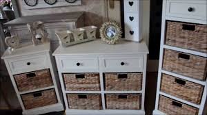 new cream wicker storage units shabby chic french furniture