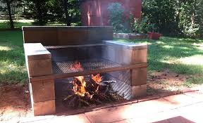 Backyard Hibachi Grill Build Your Own Backyard Cinder Block Grill Easy