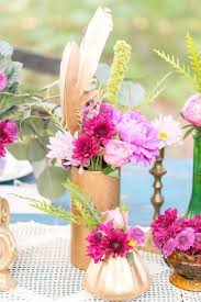 Mismatched Vases Wedding 19 Boho Wedding Decor Ideas For Your Spring Or Summer Fête Brit Co