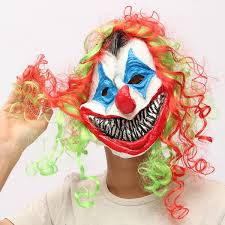 Halloween Clowns Props New Halloween Mask Creepy Clown Head Costume Party Fancy